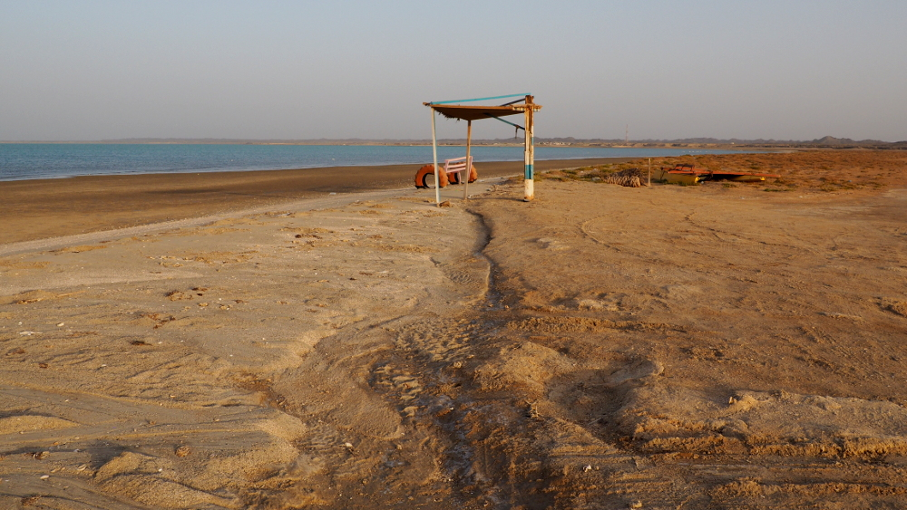 Strand am Masirah Beach Camp im Oman