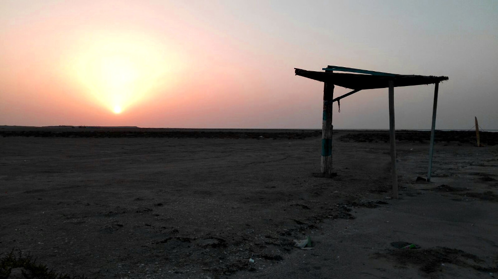 Sonnenuntergang am Masirah Beach Camp im Oman