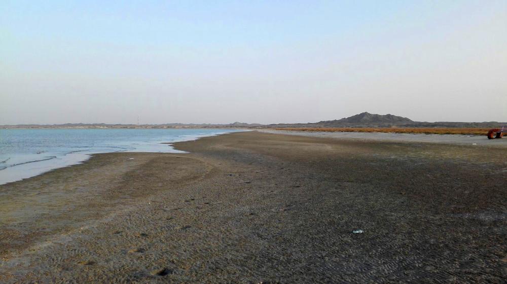 Strand am Masirah Beach Camp im Oman