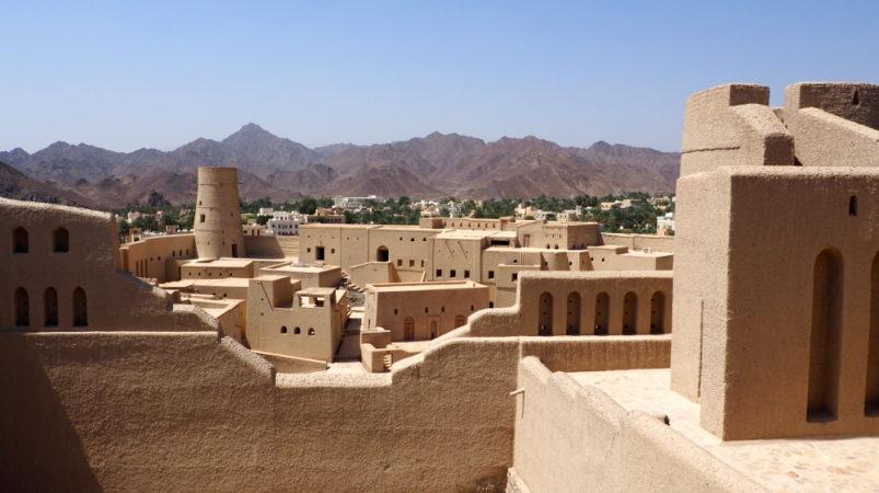 Innenhof des Bahla Fort im Oman