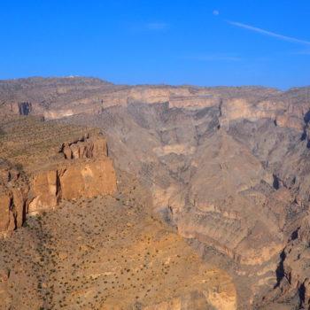 Blick von einem Aussichtspunkt am Jebel Shams im Oman