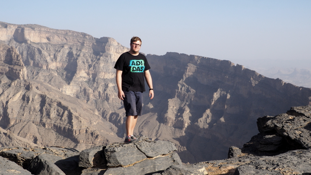 Marc Möllmann am Jebel Shams im Oman