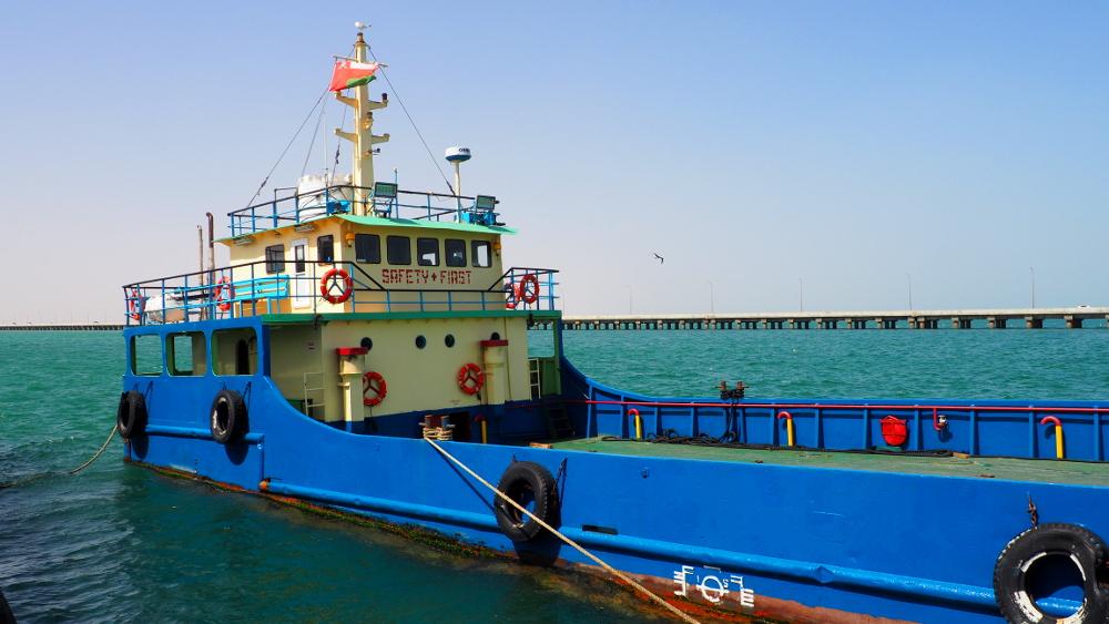 Die Autofähre nach Masirah Island im Oman