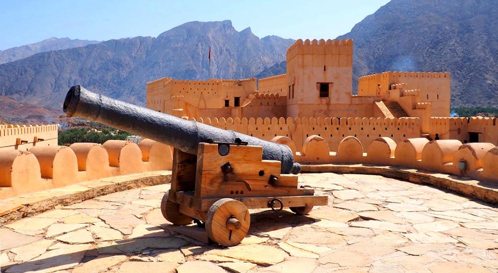 Kanone im Nakhal Fort im Oman