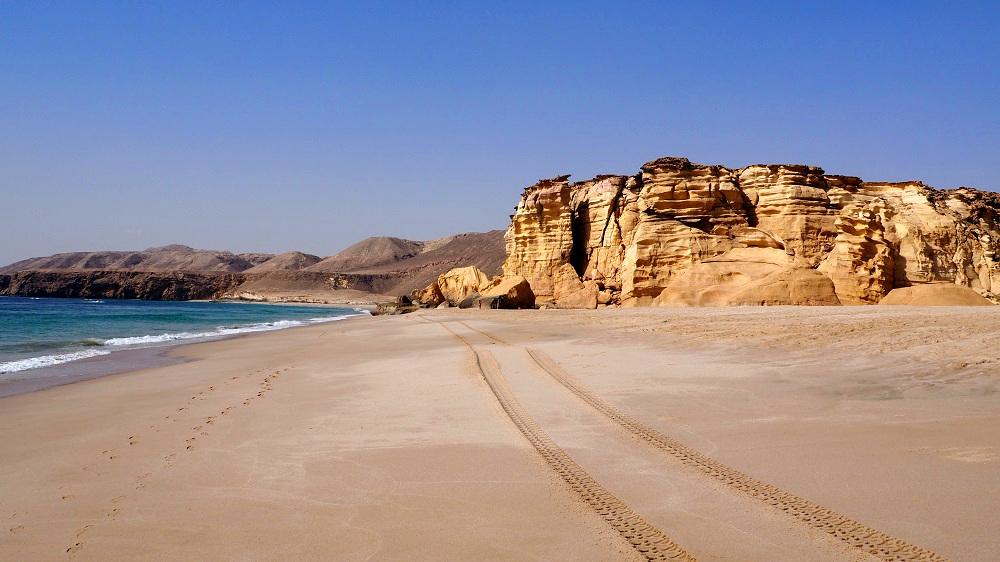 Der Strand von Ras al Jinz im Oman