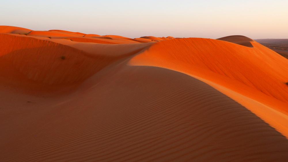 Dünenlandschaft in der Wahiba Sands im Oman