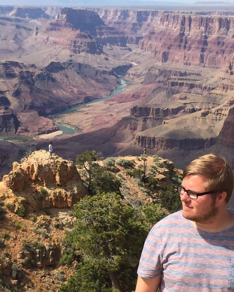 Marc Möllmann am Grand Canyon
