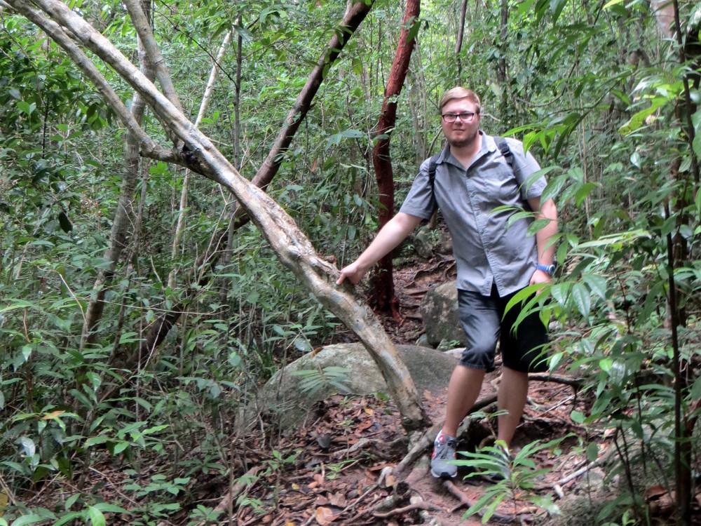 Marc Möllmann im Dschungel auf den Perhentian Islands