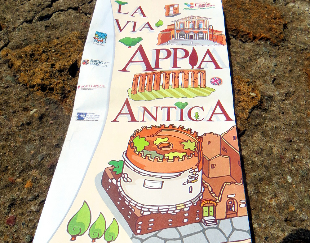 Broschüre der Via Appia Antica in Rom