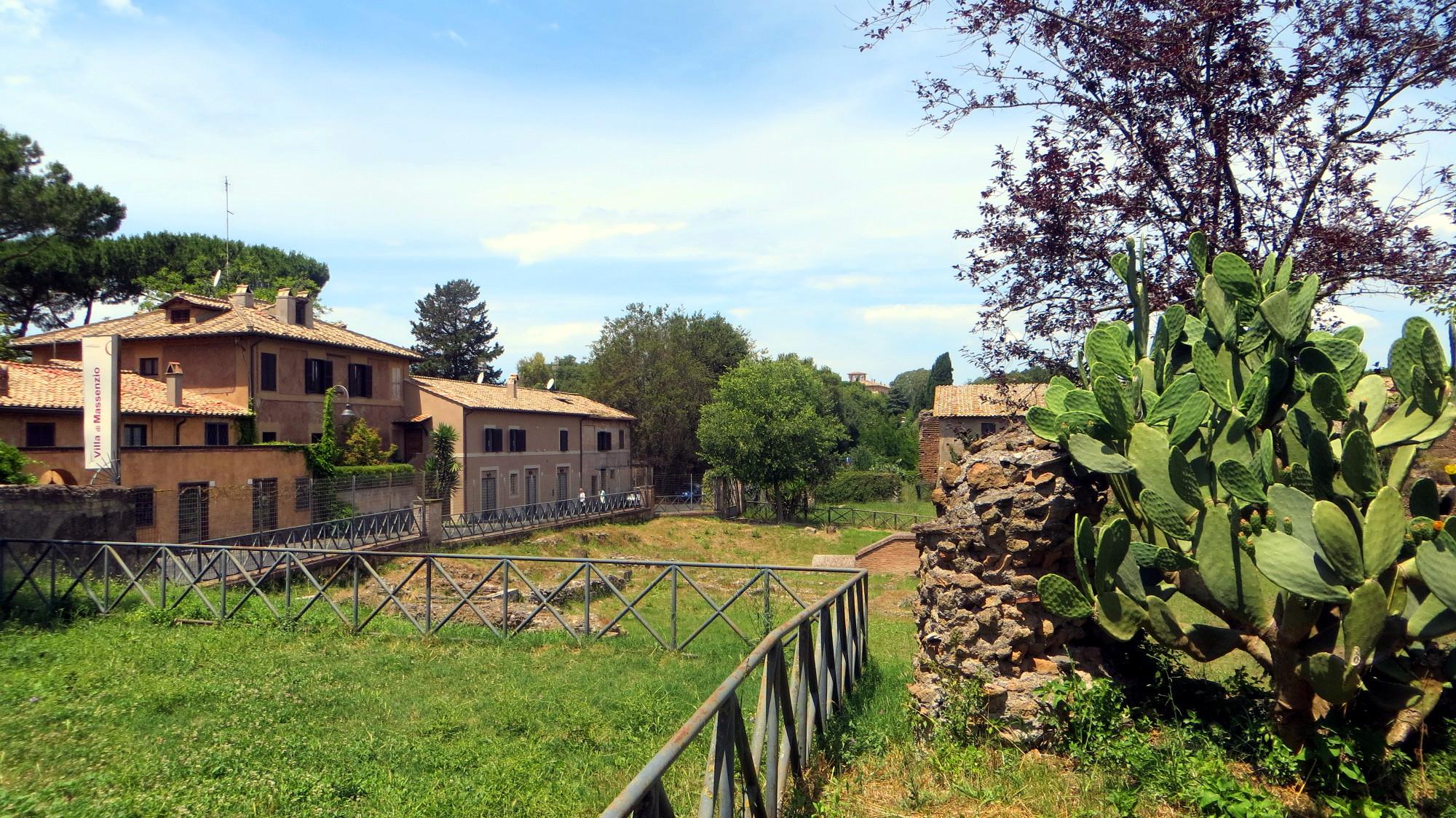 Die Maxentiusvilla auf der Via Appia Antica in Rom