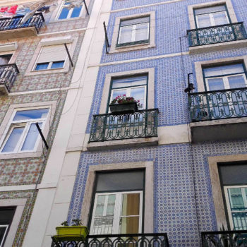Azulejos im Bairro Alto in Lissabon