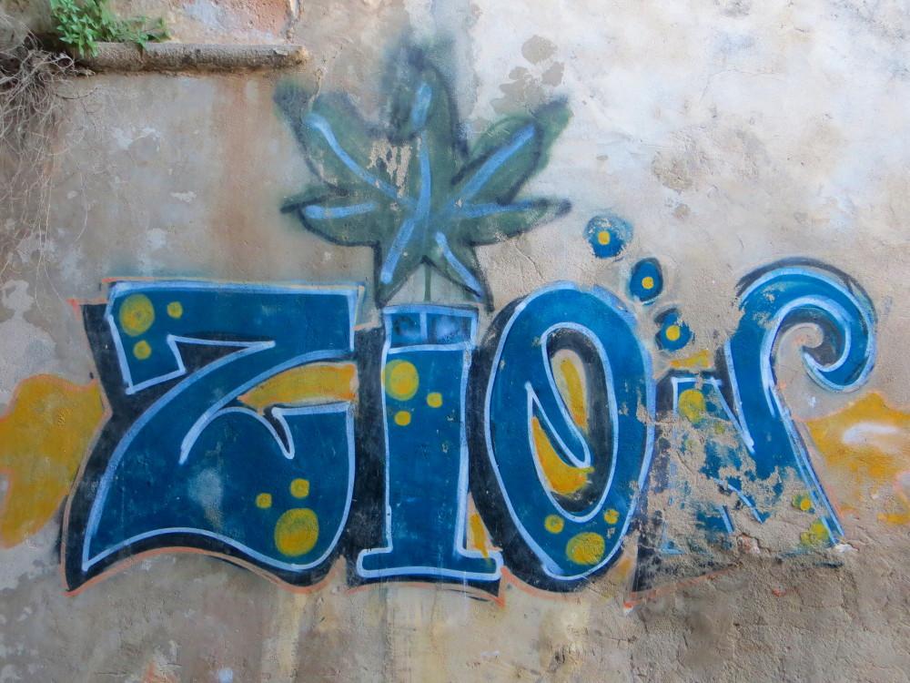 Graffiti in Alfama in Lissbon