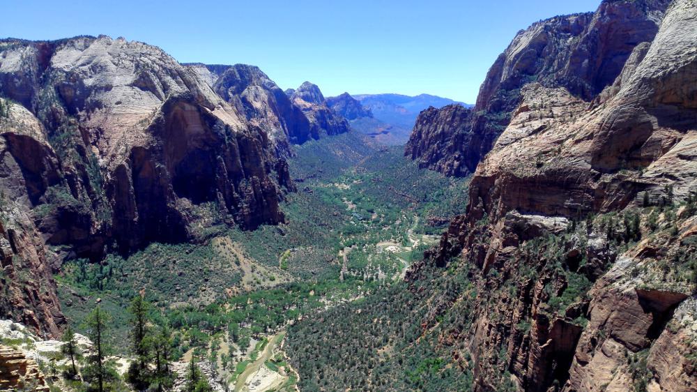 Blick auf das Zion Valley