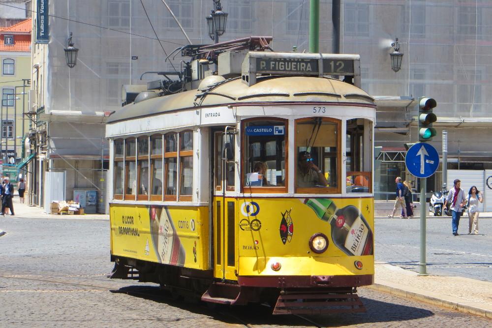 Tramder Linie 12 in Lissabon