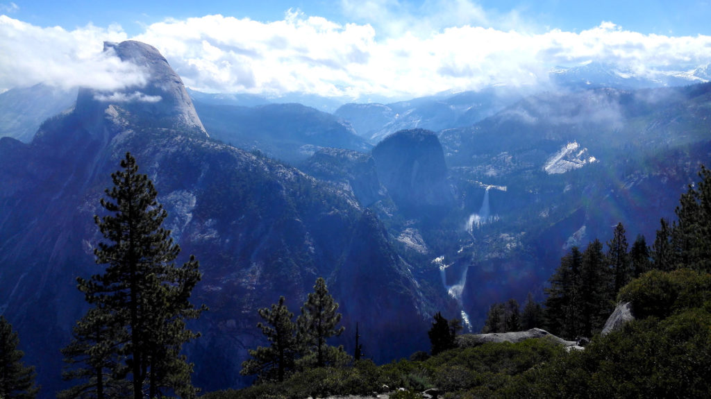 Half Dome, Neada and Vernal Falls
