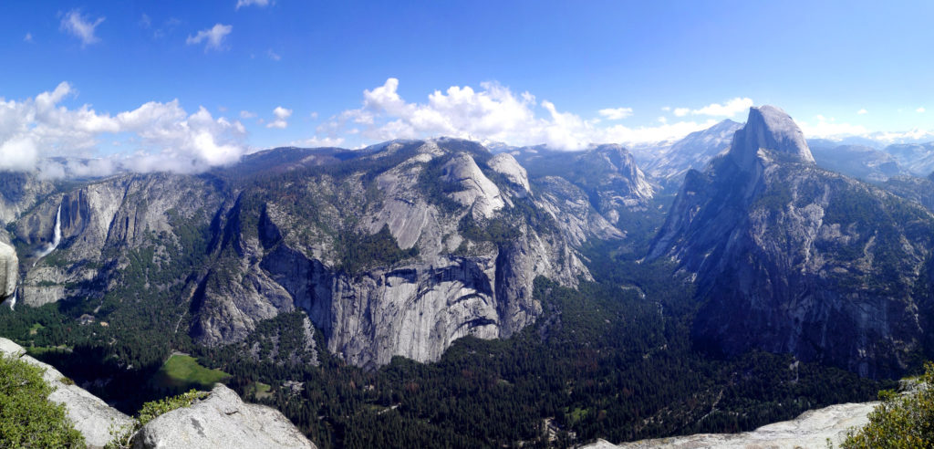 Panorama Yosemite Valley vom Glacier point