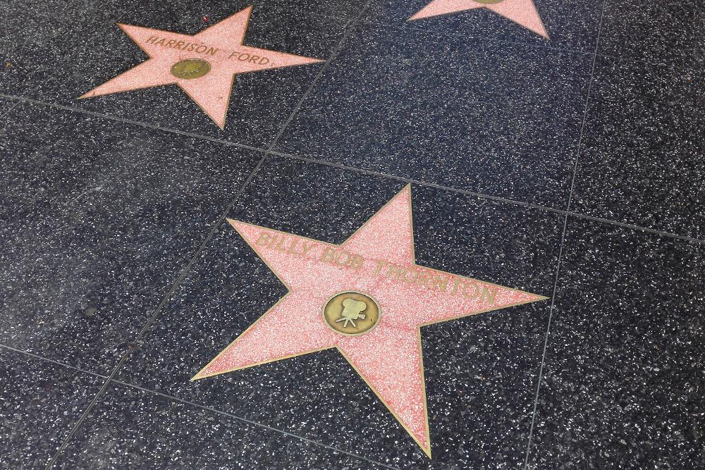 Die Sterne von Harrison Ford & Billy Bob Thornton auf dem Hollywood Walk Of Fame