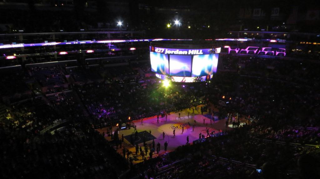 Lakers versus Mavericks at Staples Center
