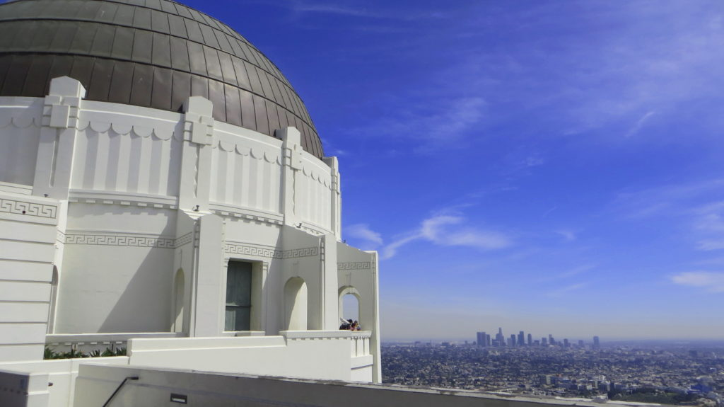 Blick vom Griffiths Observatory auf Los Angeles