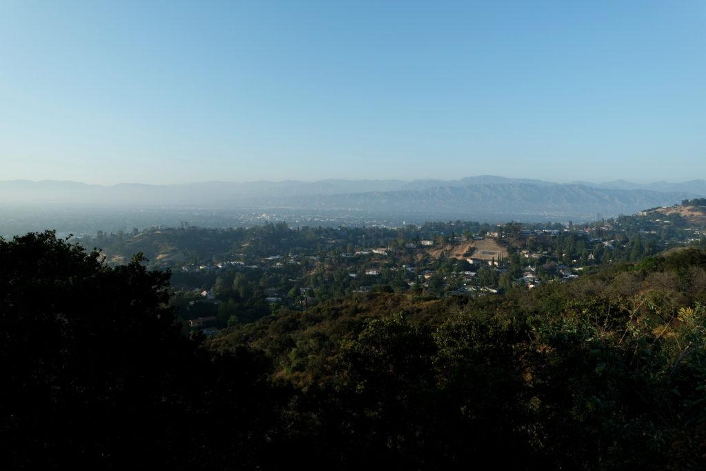 Blick vom Mulholland Drive auf die Studio City