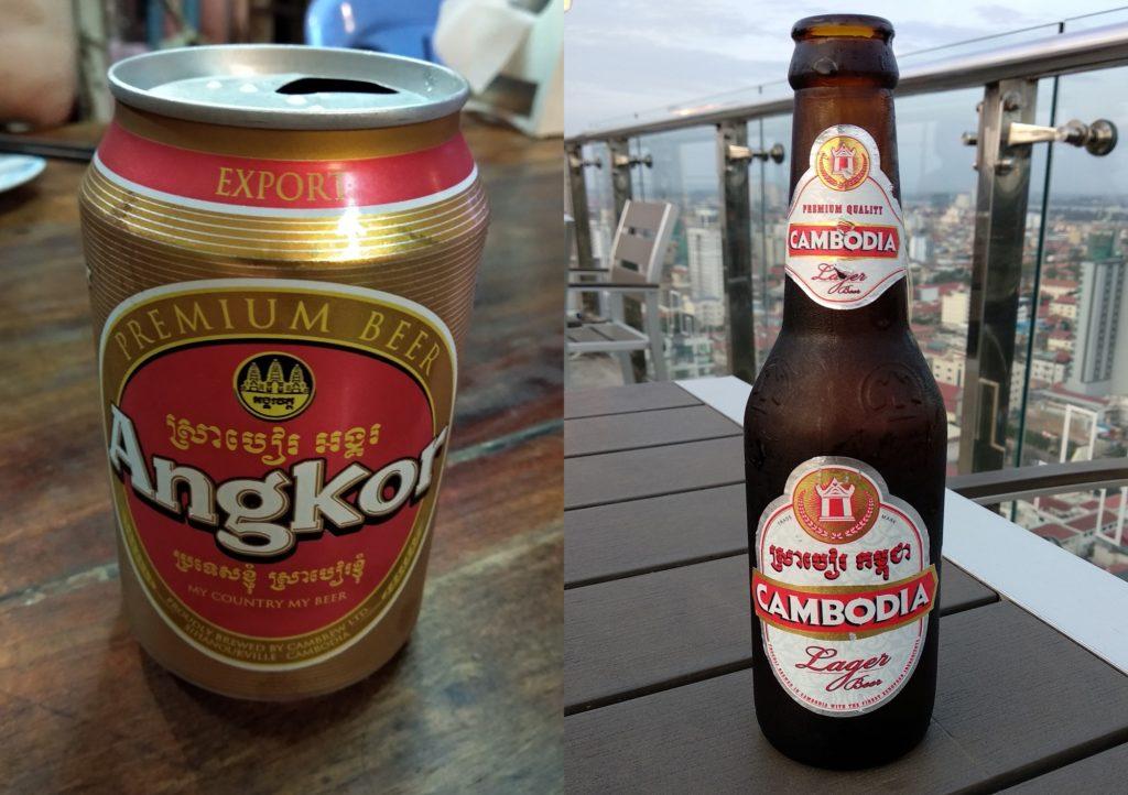 Angkor und Cambodia Bier