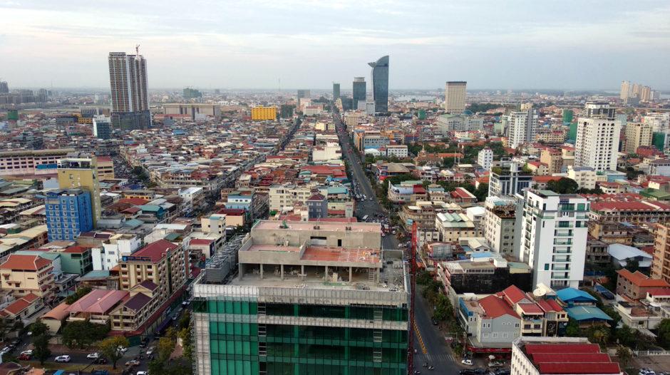 Aussicht von der Eclipse Sky Bar in Phnom Penh