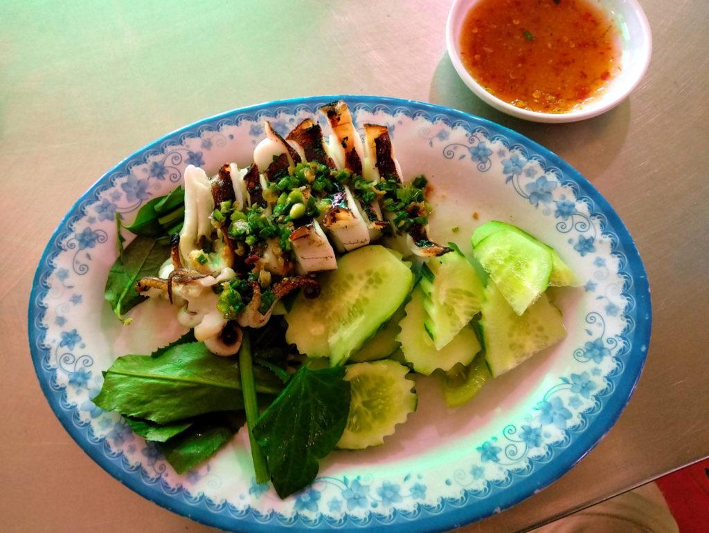 Gegrillter Tintenfisch Zentralmarkt Phnom Penh