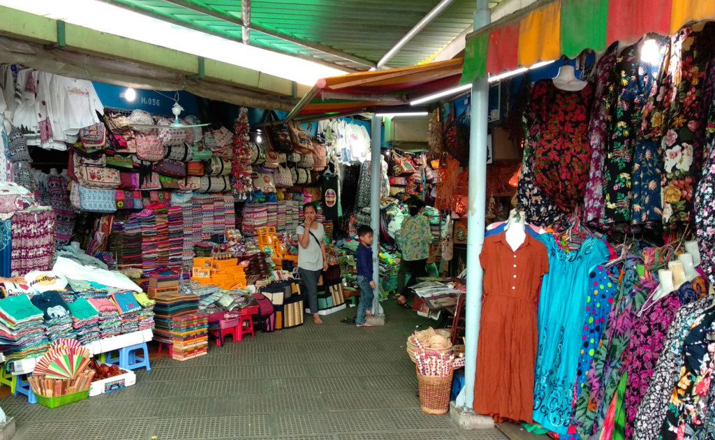 Textilhändler Zentralmarkt Phnom Penh