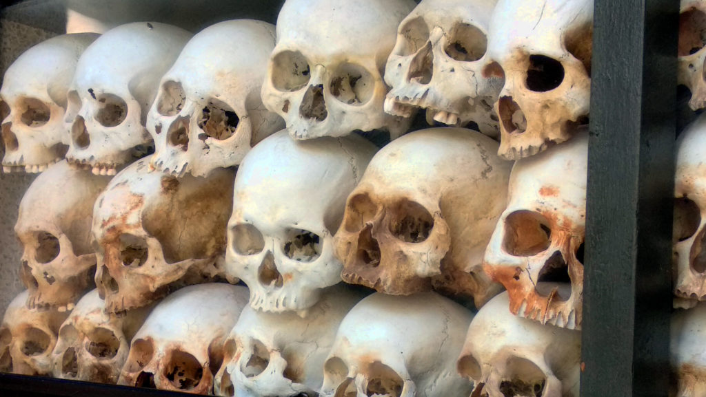 Totenschädel Killing Fields