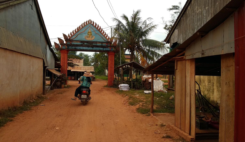 Ein Dorf im Hinterland von Kampot