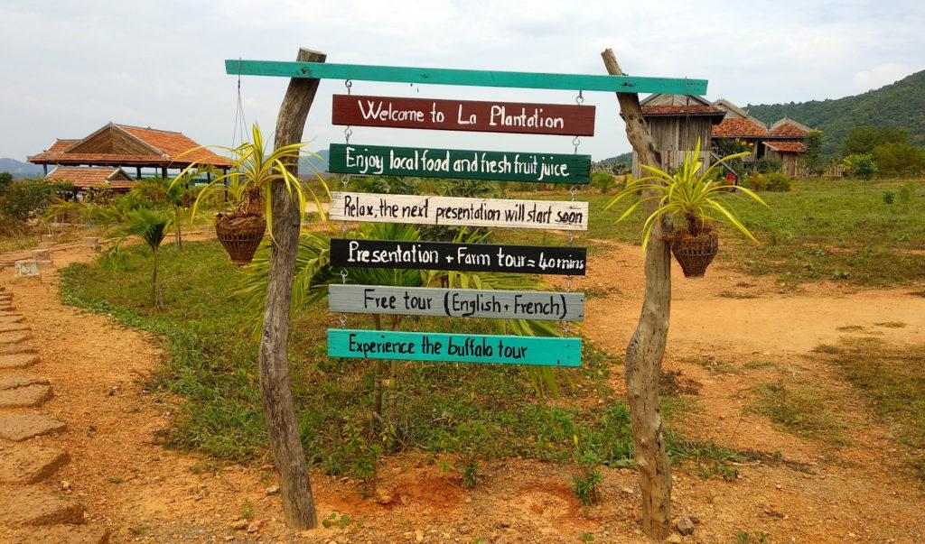 Kampot La Plantation Eingang