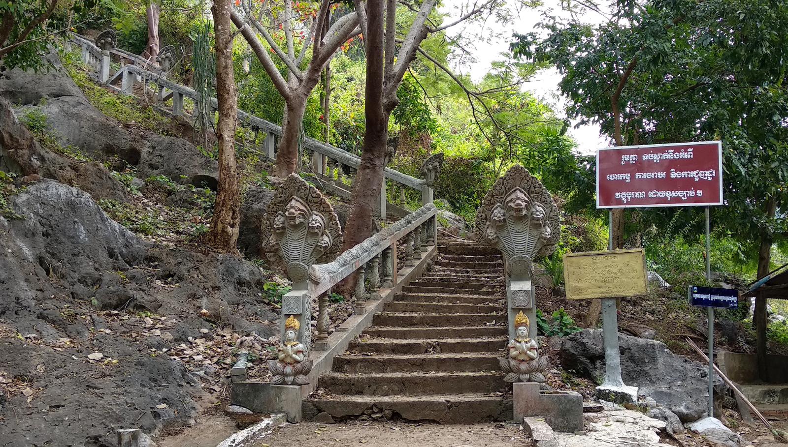 Kampot Treppe Phnom Chhngok