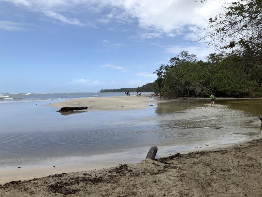 Übergang Fluss in Cahuita