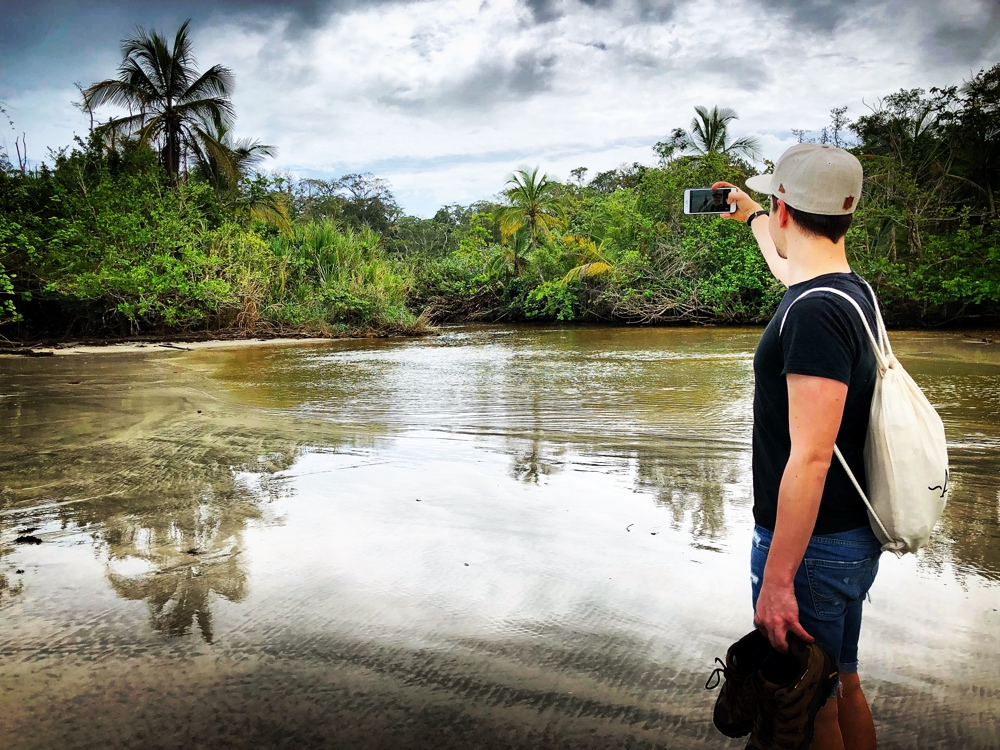 Selfie am Übergang Cahuita