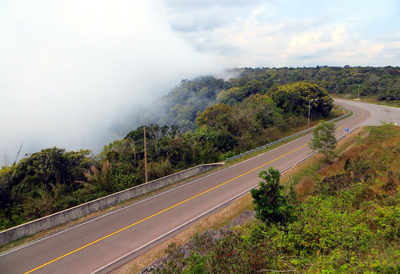 Straße auf den Bokor Hill