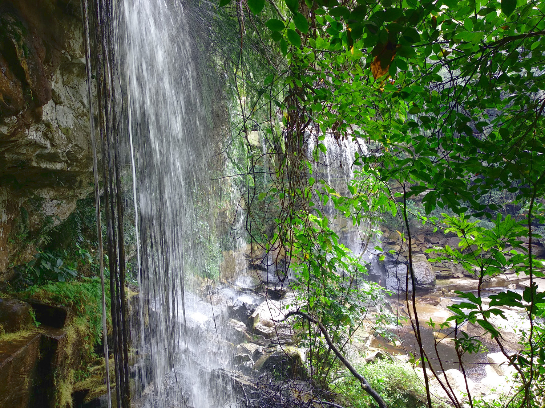 Blick auf den povokvil Wasserfall