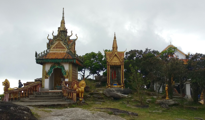 Tempel auf dem Bokor Hill