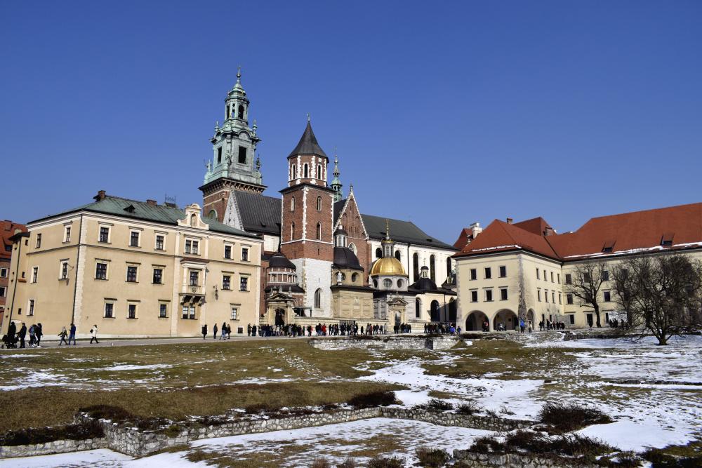 Die Burg Wawel in Krakau im Winter
