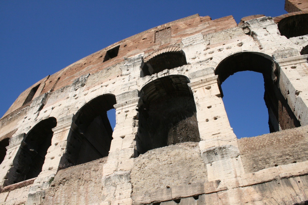 Ein Teil des Colosseums in Rom