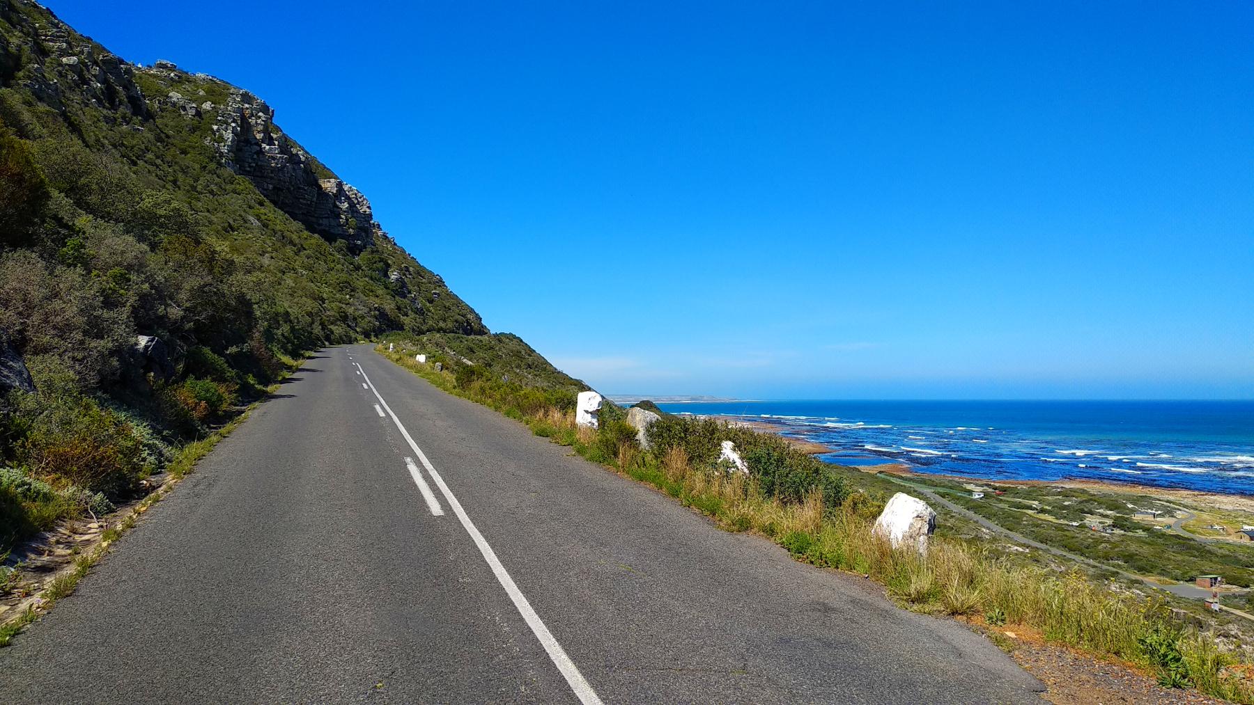 Küstenstraße auf der Kap-Halbinsel