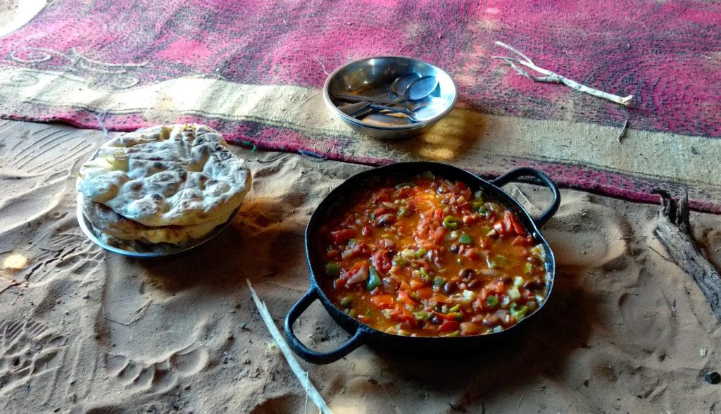 Mittagessen im Wadi Rum
