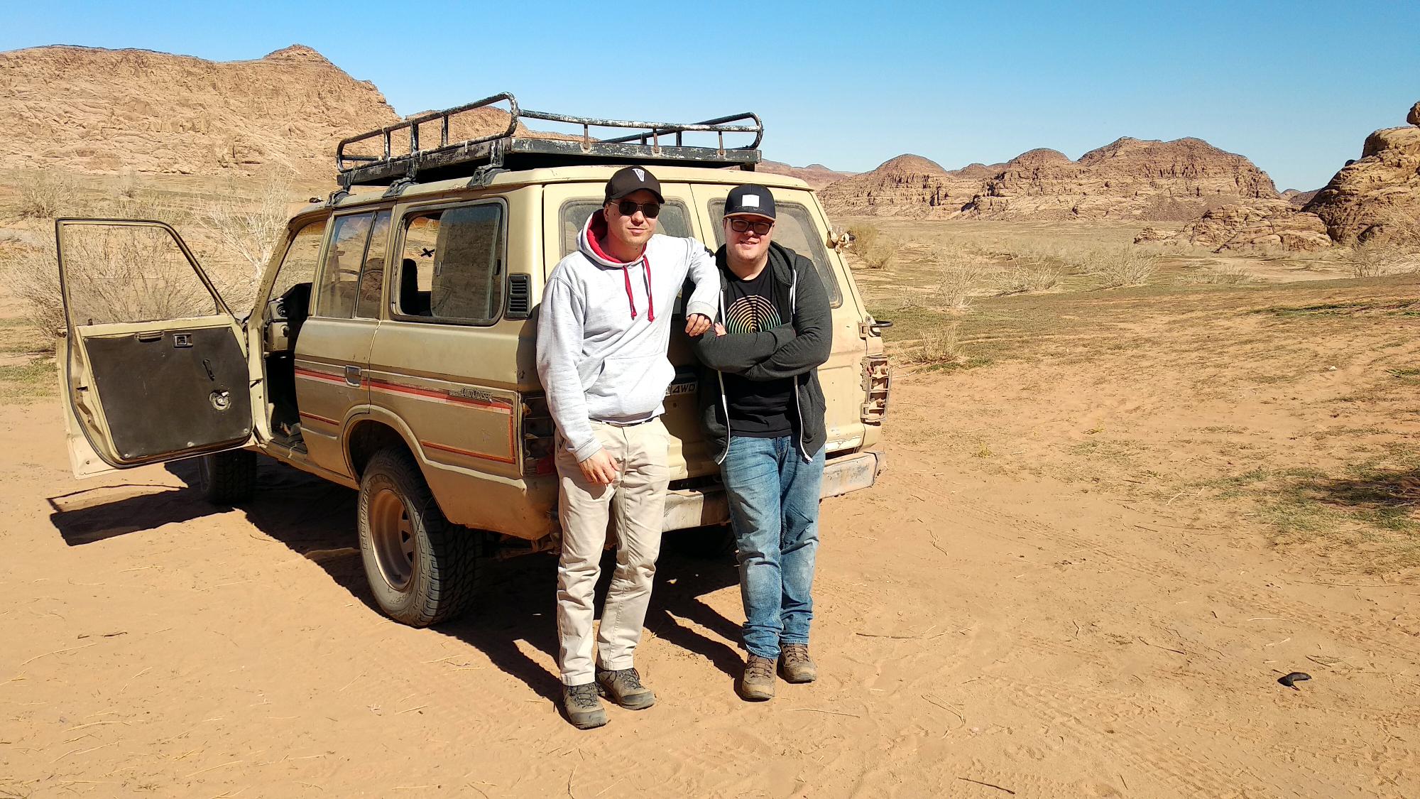 Marc & Niclas Möllmann im Wadi Rum