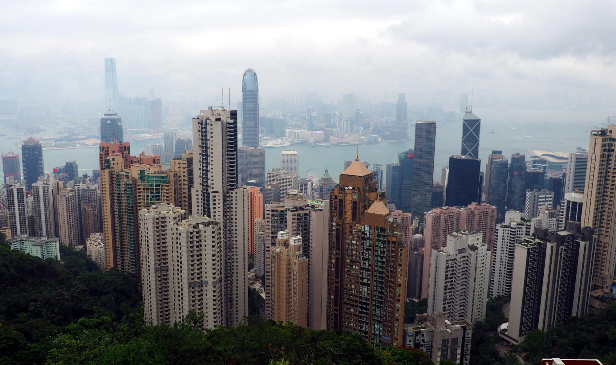 Blick auf Hong Kong vom Victoria Peak