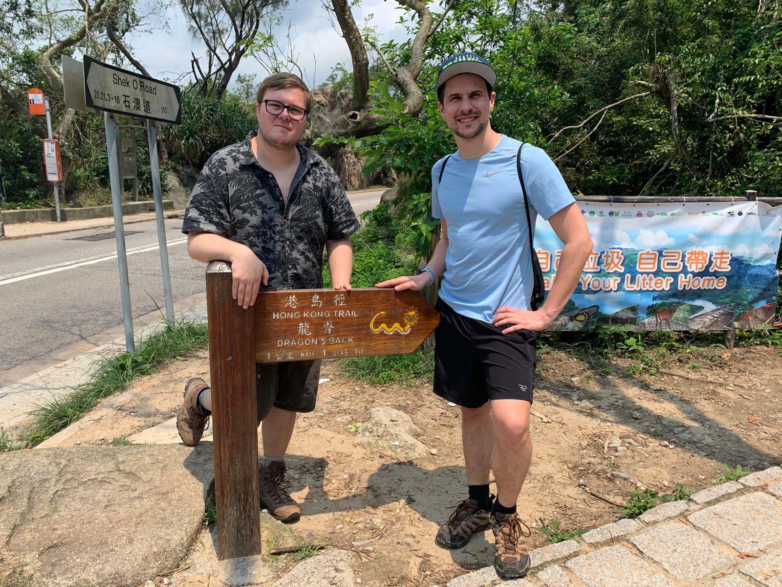 Marc & Nils Dragon's Back Trail