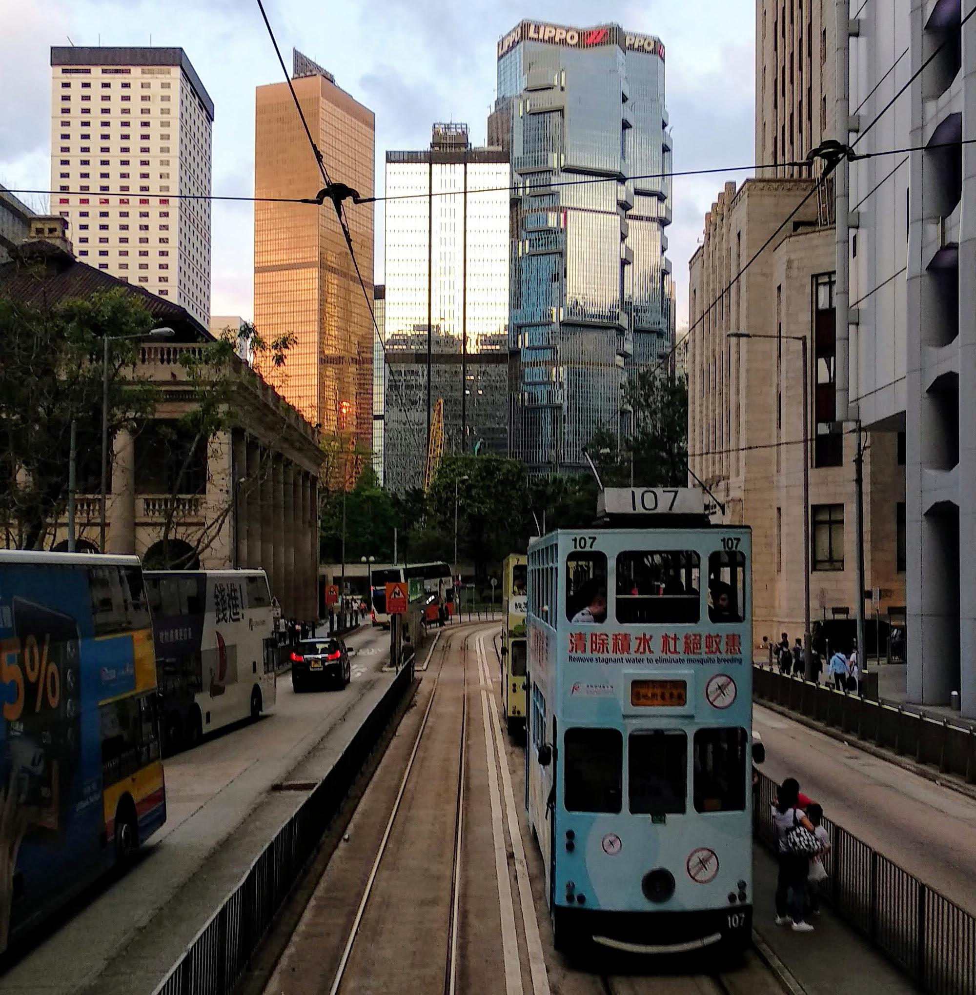 Tram in Central Hong Kong