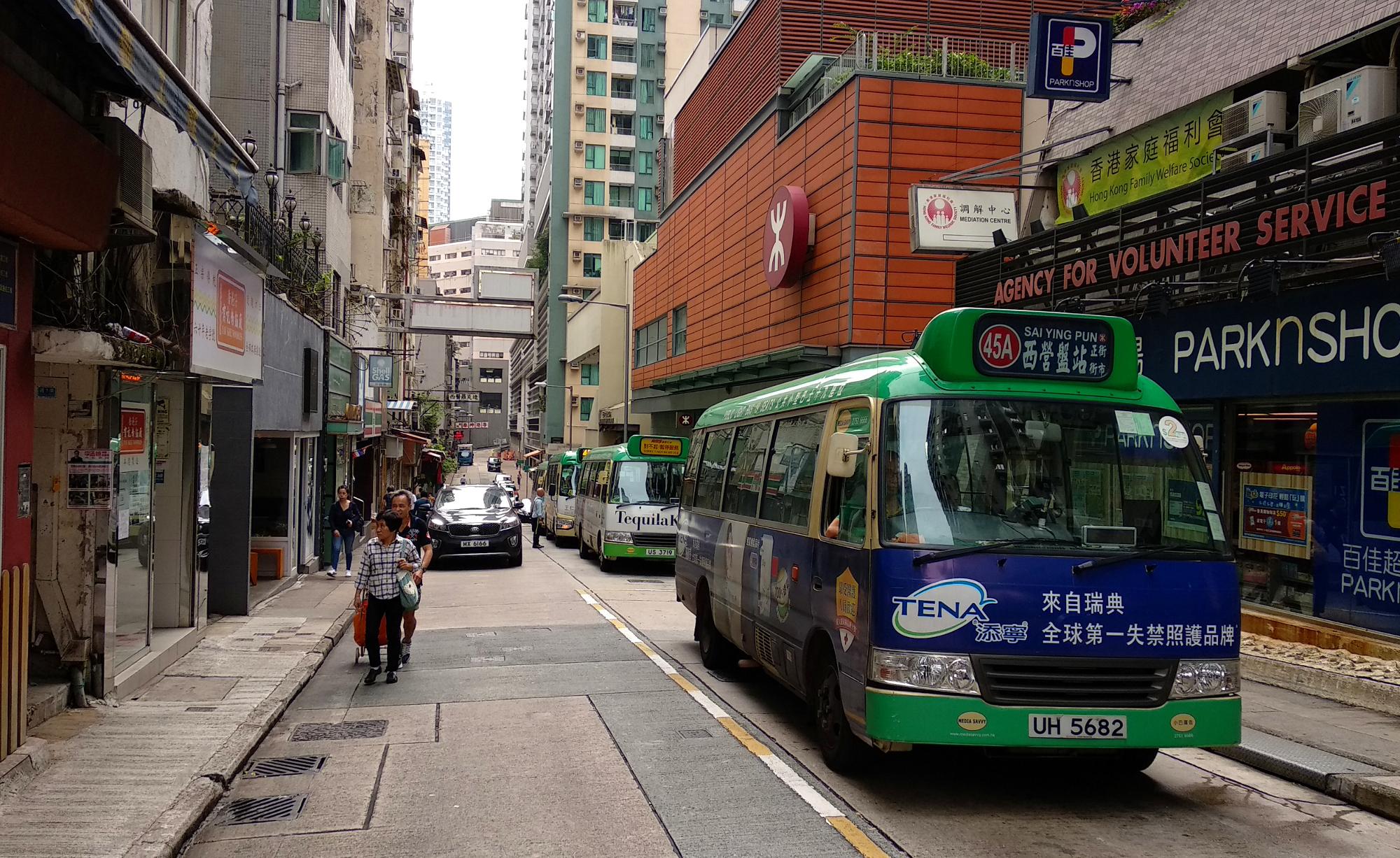 Mini Bus at Sai Ying Pun Station