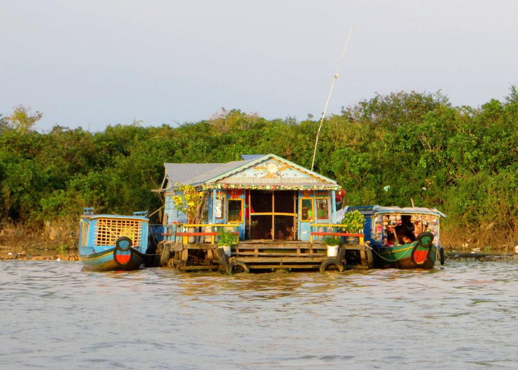 Hausboot am Tonle Sap
