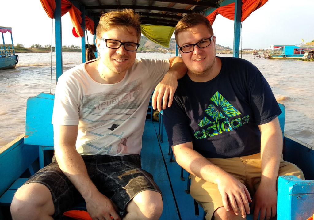 Niclas und Marc am Tonle Sap
