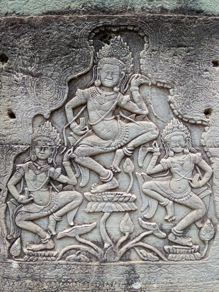 Relief im Bayon