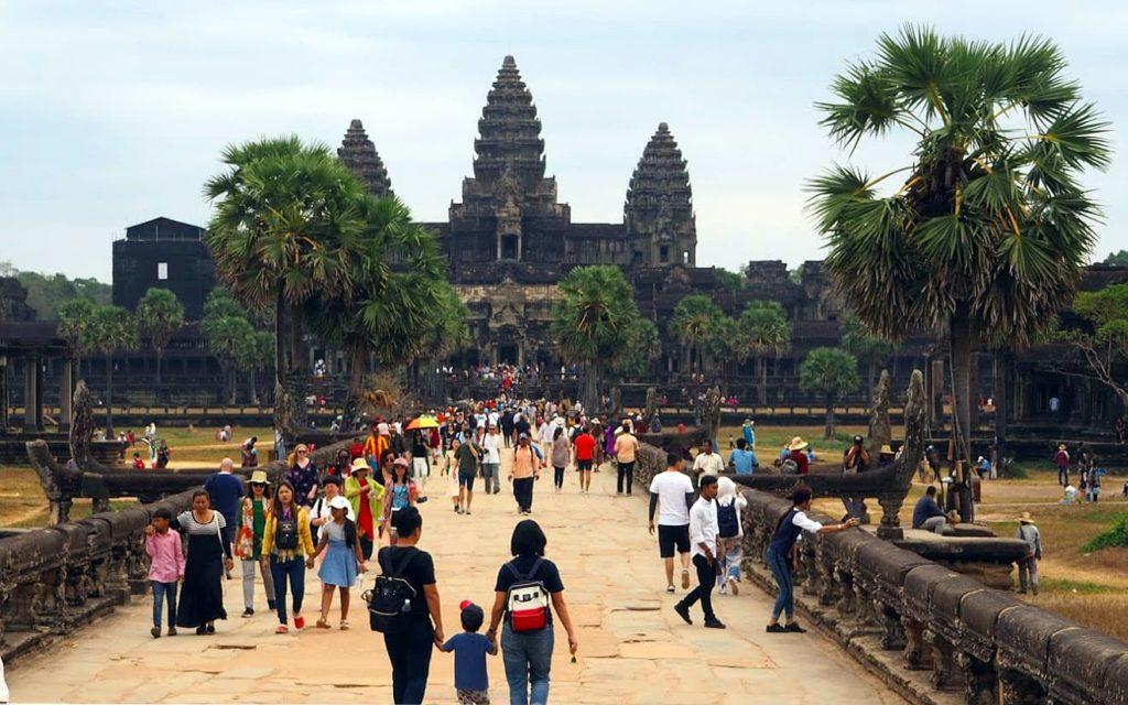 Frontansicht von Angkor Wat